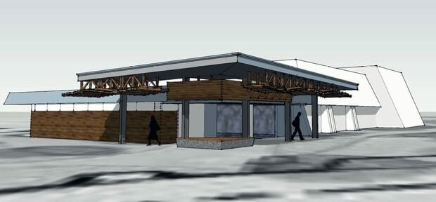 Proposed View of the new look Coolum Beach Civie Centre