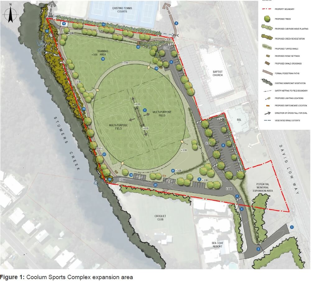 Proposed Sports Grounds Coolum Beach