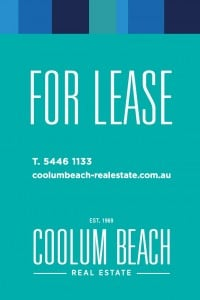 Coolum Beach - Sign - For Lease Corfulte 600 x 900 - 24.12.2014